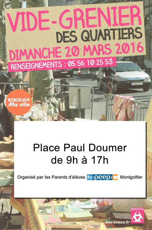vide grenier de l cole montgolfier le dimanche 20 mars ecole l mentaire montgolfier. Black Bedroom Furniture Sets. Home Design Ideas